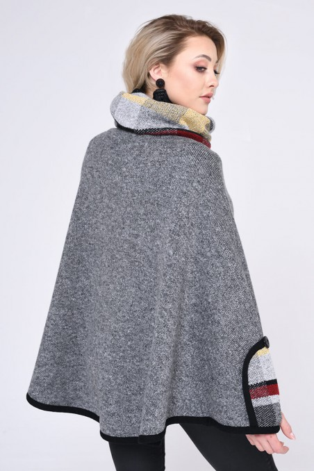 WOMENS KNIT COAT, DARK GREY