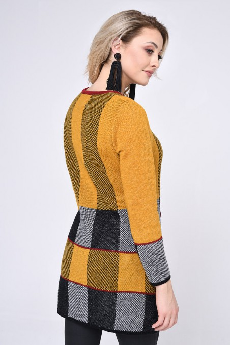 WOMENS KNIT SWEATER, MUSTARD