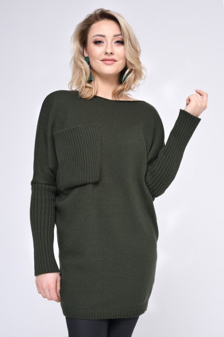WOMENS KNIT SWEATER, GREEN