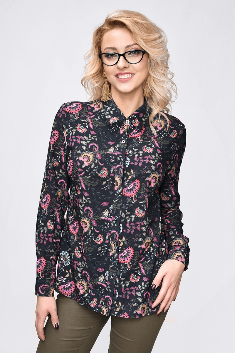 WOMENS KNIT BLOUSE 100% POLYESTER
