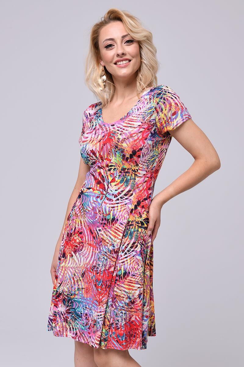 Wiskozowa sukienka, wycięte plecy z paseczkami