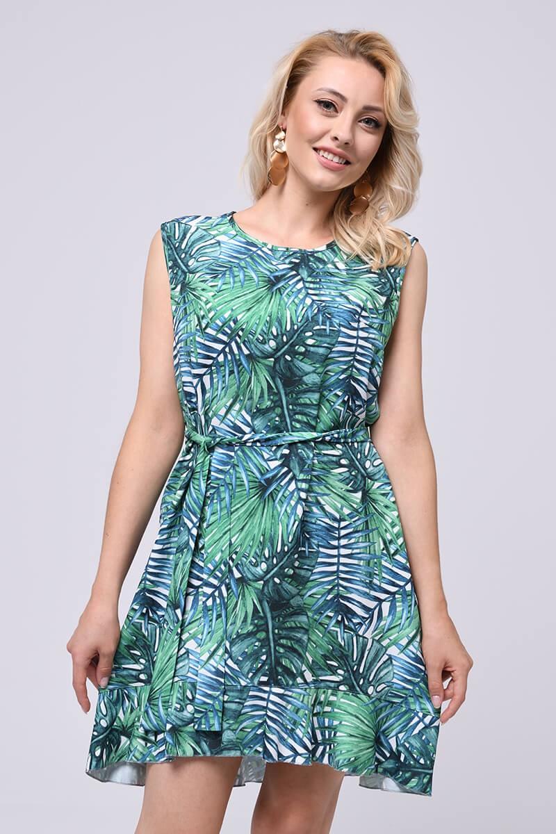 Letnia sukienka, tropikalne wzory