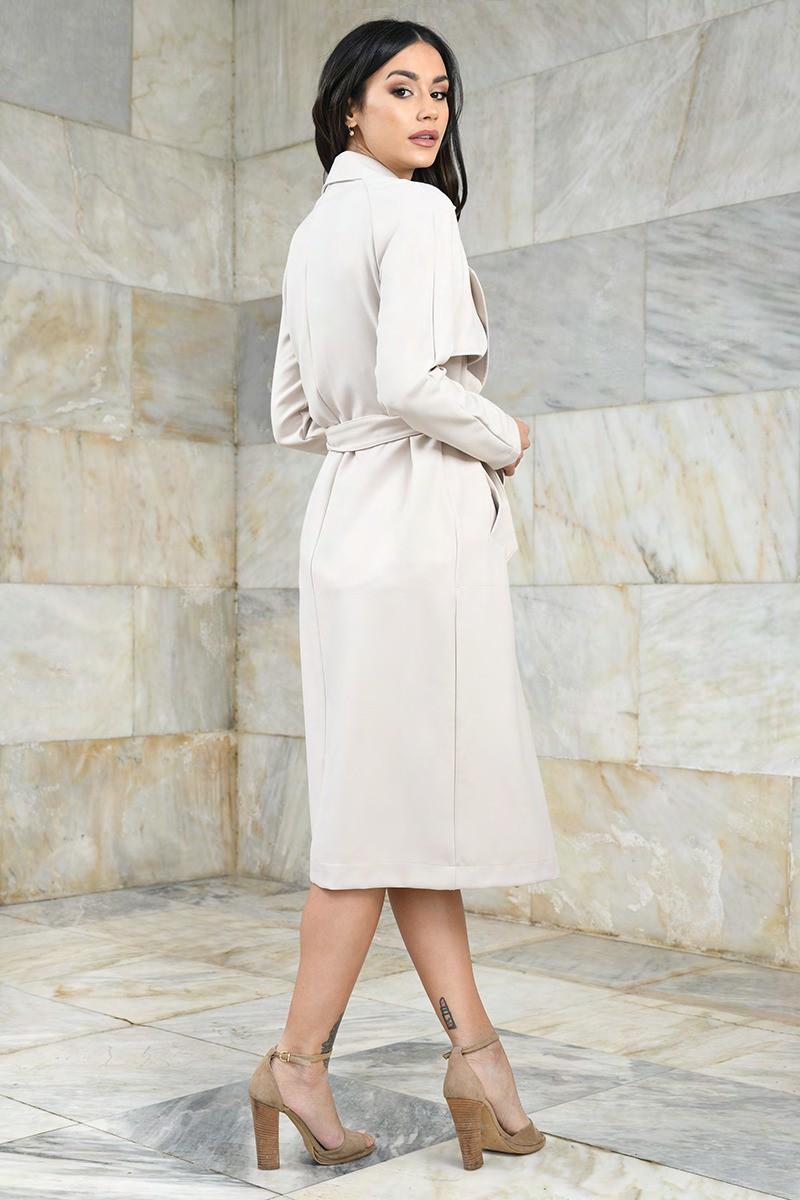 Przejściowy płaszcz damski, ecru