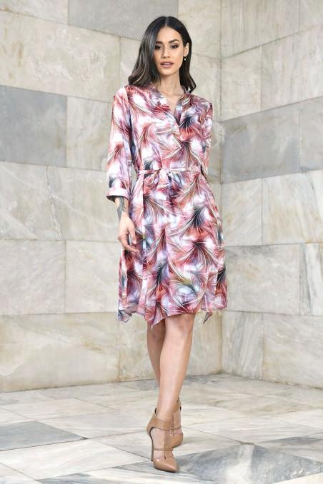 Wiskozowa sukienka typu szmizjerka