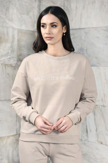 Bluza dresowa z opuszczonym ramieniem