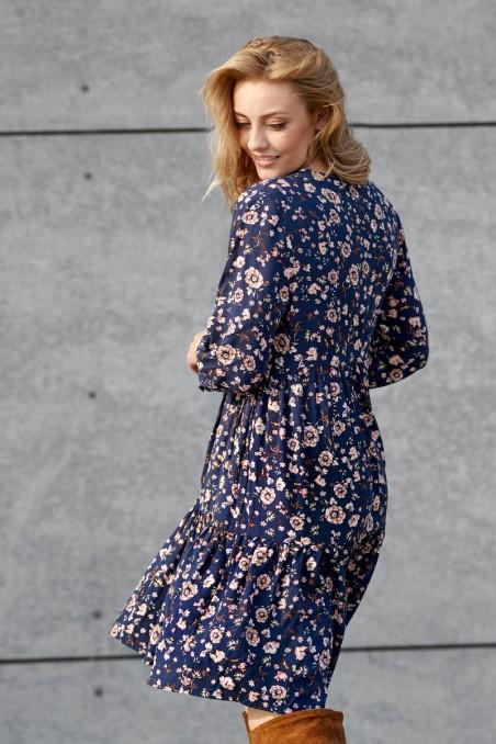 copy of Wiskozowa sukienka w kwiaty